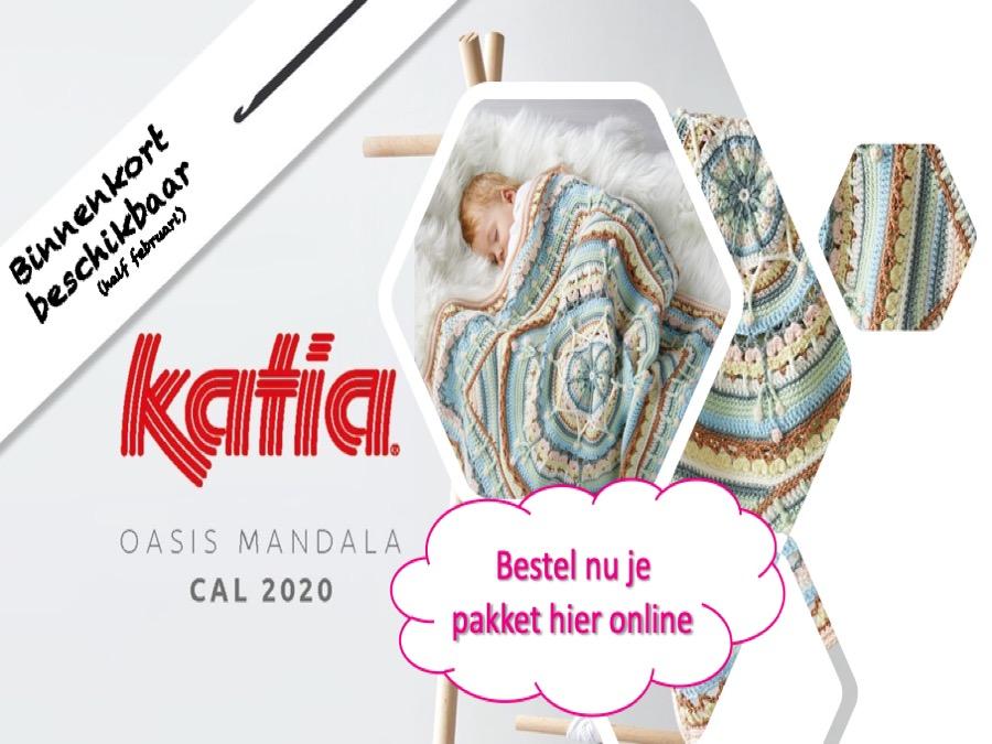 Twee Steekjes Los Katia CAL 2020 baby deken Oasis Mandala